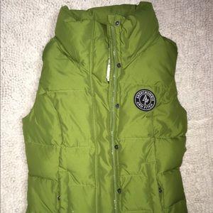 Abercrombie Green Puffer Vest